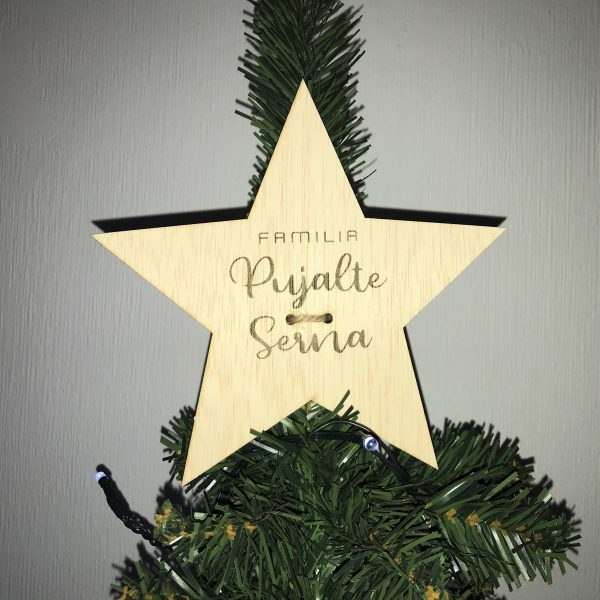 Estrella Árbol Personalizada